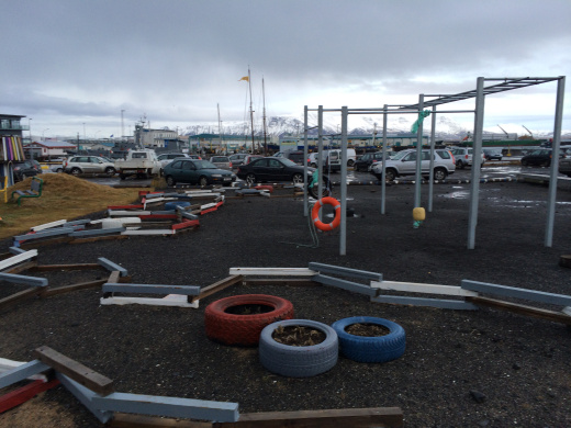 Aυτοσχέδιο πάρκο στο λιμάνι του Reykjavik