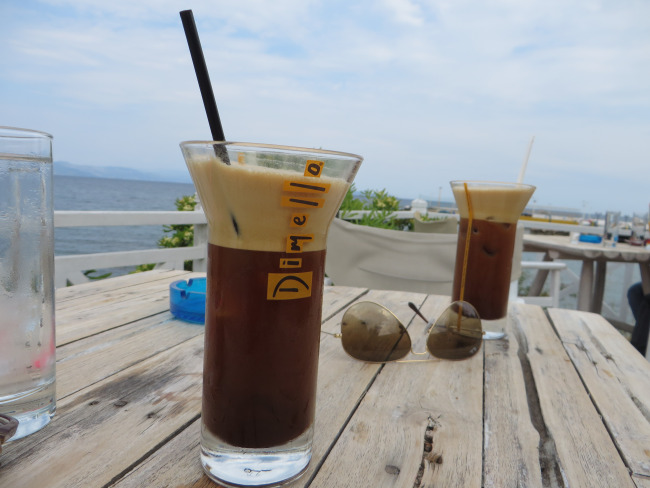 Iced espresso, sun, sea, sky and your best friend! What else could I ask for?