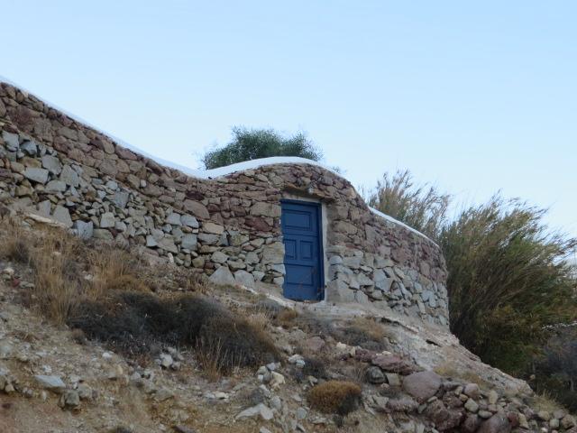 Blue door! Agios Sostis!