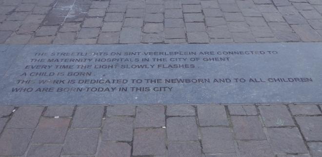 Ghent, written in the street