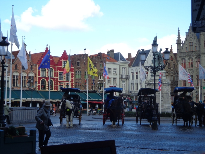 Carriages at the main square