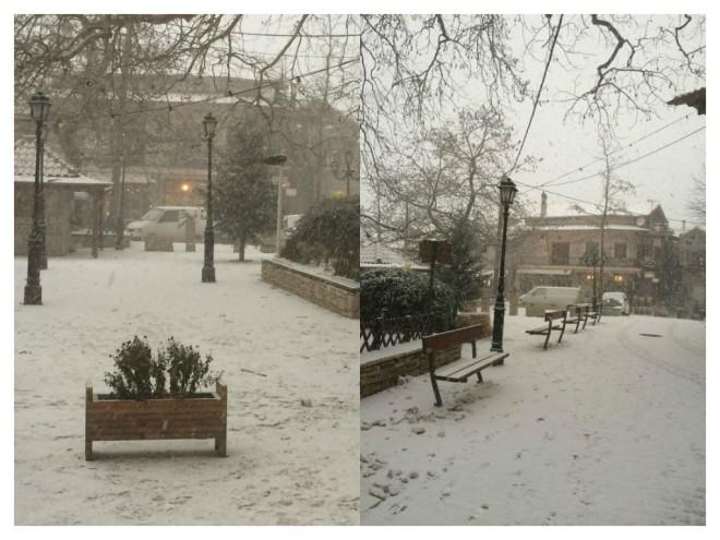 Η στιγμή της χιονοθύελλας!
