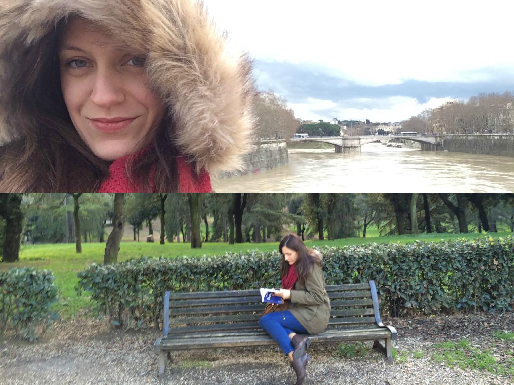 Σέλφι στον Τίβερη και διαβάζοντας στο πάρκο!
